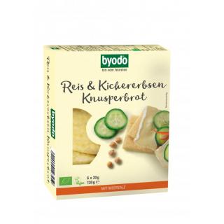 byodo Reis & Kichererbsen Knusperbrot 120g Packung