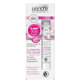 lavera Illuminating Eye Cream Perlen-Extrakt & Bio-Koffein 15ml Tube