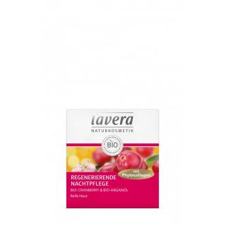 lavera Regenerierende Nachtpflege Bio-Cranberry & Bio-Arganöl 50ml Tiegel