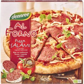 dennree Al Forno Pizza Salami Champignon 335g Schachtel