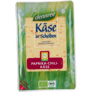 dennree Paprika-Chili-Käse in Scheiben 150g Packung - lactosefrei -