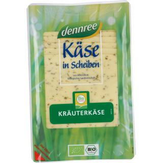 dennree Kräuterkäse in Scheiben 150g Packung -laktosefrei -