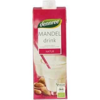 dennree Mandel Drink ungesüßt 1l Tetra Pack