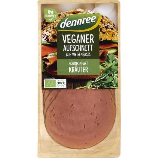 dennree Veganer Aufschnitt Schinken Art Kräuter 90g Packung