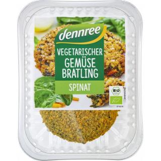dennree Gemüse-Bratling Spinat 160g Packung