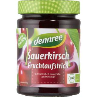 dennree Fruchtaufstrich Sauerkirsche 340g Glas