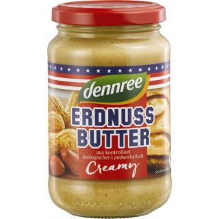 dennree Erdnussbutter Creamy 350g Glas