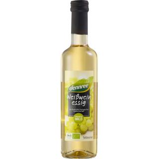 dennree Weißweinessig 500ml Flasche