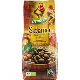 dennree Sidamo Röstkaffee Transfair gemahlen 250g Packung