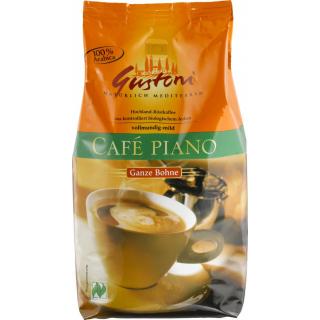 Gustoni Café piano ganze Bohne 100 % Arabica 1kg Packung