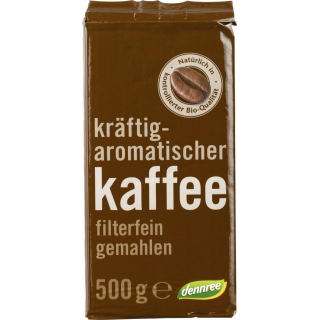 dennree Röstkaffee gemahlen 500g Packung