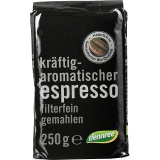 dennree Espresso gemahlen 250g Packung