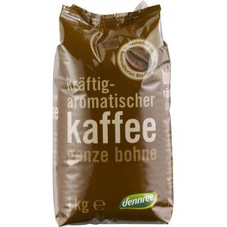 dennree Röstkaffee ganze Bohne 1kg Packung