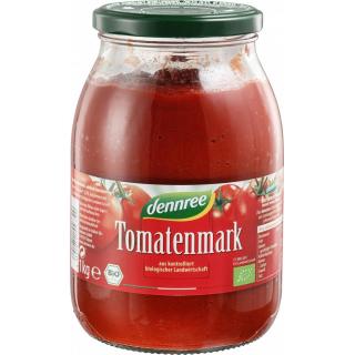 dennree Tomatenmark 22% Trockenmasse 1kg Glas