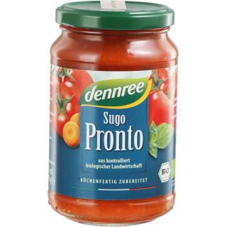 dennree Sugo Pronto Tomatensauce mit Gemüse 340g Glas