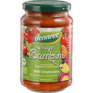 dennree Sugo Bambini Kinder Tomatensauce 350g Glas