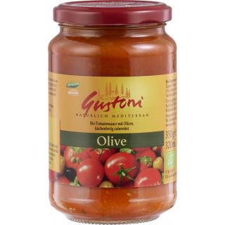 Gustoni Tomatensauce mit Oliven 350g Glas
