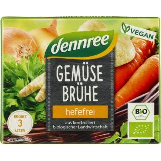 dennree Gemüsebrühwürfel 60g Packung 6 Stück -hefefrei-