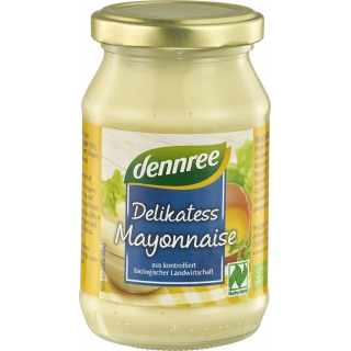 dennree Delikatess Mayonnaise 250ml Glas