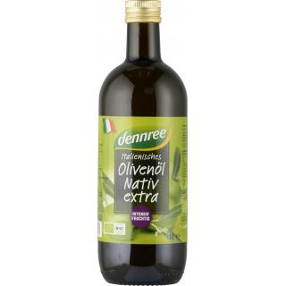 dennree Italienisches Olivenöl nativ extra 1l Flasche