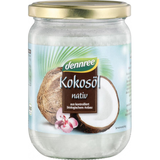 dennree natives Kokosöl 450ml Glas