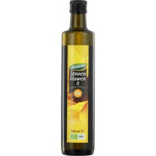 dennree Sonnenblumenöl nativ kalt gepresst 0,5l Flasche