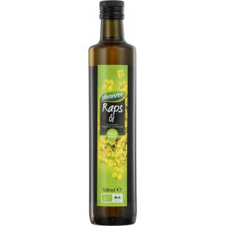dennree Rapsöl nativ kalt gepresst 0,5l Flasche