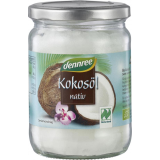 dennree natives Kokosöl 450ml Glas
