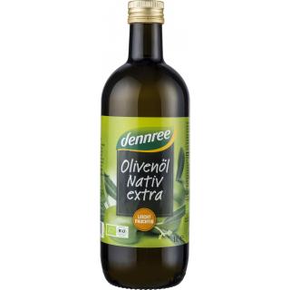 dennree Olivenöl nativ extra 1l Flasche