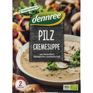 dennree Pilzcremesuppe 50g Packung