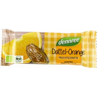 dennree Fruchtschnitte Dattel-Orange 40g Stück