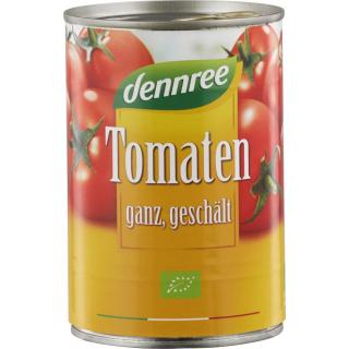 dennree Tomaten ganz geschält in Tomatensaft 400g Dose