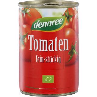 dennree Tomaten fein stückig 400g Dose