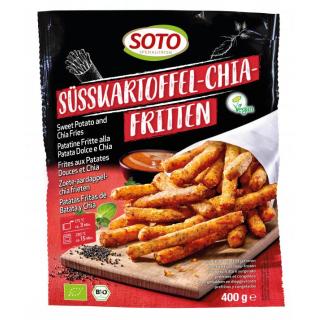 Soto Süsskartoffel- Chia-Fritten 400g Beutel