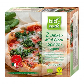 bio inside Dinkel-Mini-Pizza Spinaci vegan 2x150g Packung