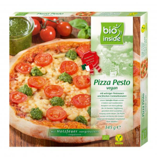 bio inside Pizza Pesto vegan 345g Schachtel