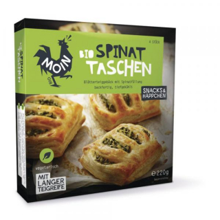 Moin Spinat Taschen 220g Packung 4 Stück a 55g