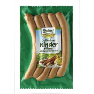 Ökoland Delikatess Rinder-Wiener 200g Packung