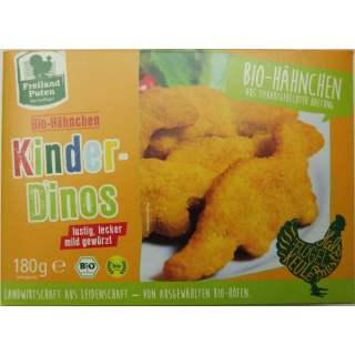 Freiland Geflügel Hähnchen Kinder-Dinos 180g Packung 7-8 Stück