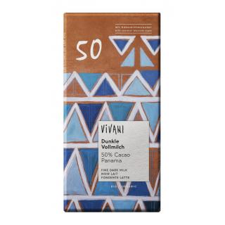 Vivani Dunkle Vollmilch 50% Kakao 80g Stück