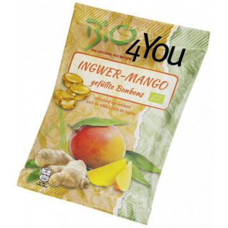 Bio4you Ingwer-Mango Bonbons 75g Packung