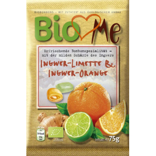 BIO loves Me Ingwer Limette & Ingwer Orange Bonbons 75g Packung