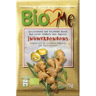 Bio4you Ingwer Bonbons 75g Packung