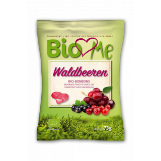 BIO loves Me Waldbeere Bonbons 75g Packung