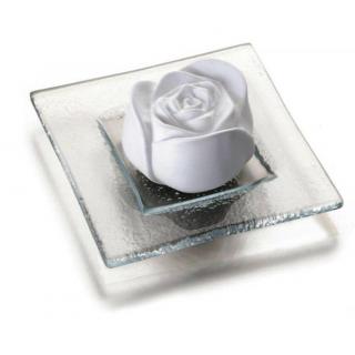 Primavera life Duftstein Rosenblüte mit Glasteller 1 Stück