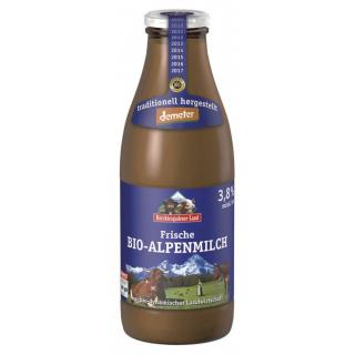 Berchtesg Demeter Vollmilch 3,8% Fett 1l Flasche