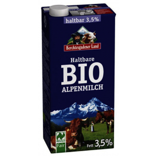 Berchtesg Haltbare Alpen Milch 3,5 % 1l Tetra Pack