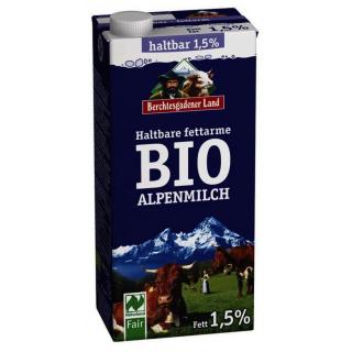 Berchtesg Haltbare Alpen Milch 1,5 % 1l Tetra Pack