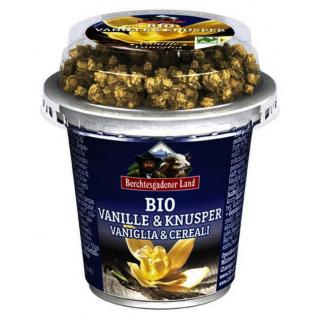 Berchtesg Frucht & Knusper Joghurt Vanille mit Müsli 150g Becher