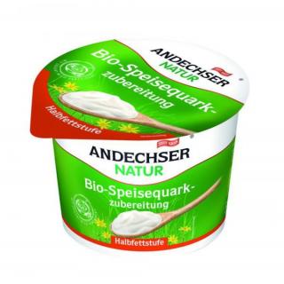 Andechser Natur Speisequark Halbfettstufe 250g Becher mit Joghurt verfeinert
